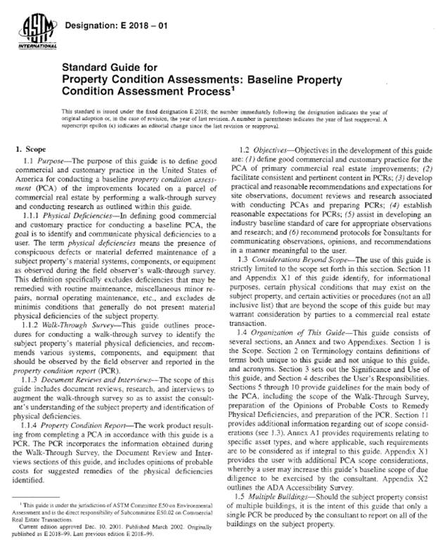 property condition assessment template