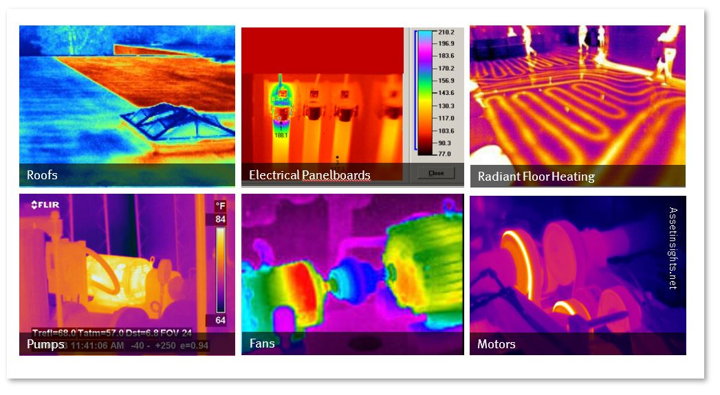 Thermographic scans as one of the many diagnostic technologies to facilitate Predictive Maintenance (PdM) on assets.